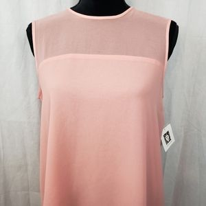 Anne Klein Pink Blouse New Career Top Shirt